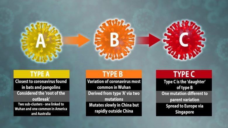 Studiuesit kanë zbuluar se ka tri variante të coronavirusit të ri, të përhapur në të gjithë botën