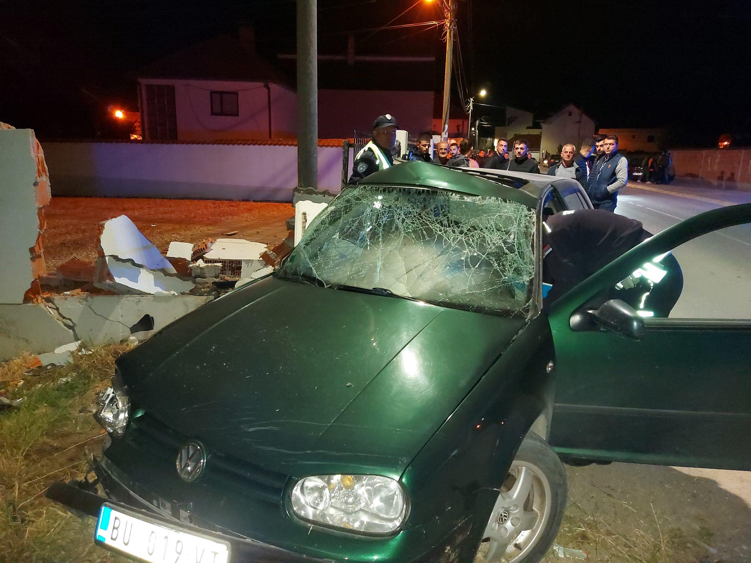 Aksident në hyrje të Tërnocit, një person i lënduar (foto&video)
